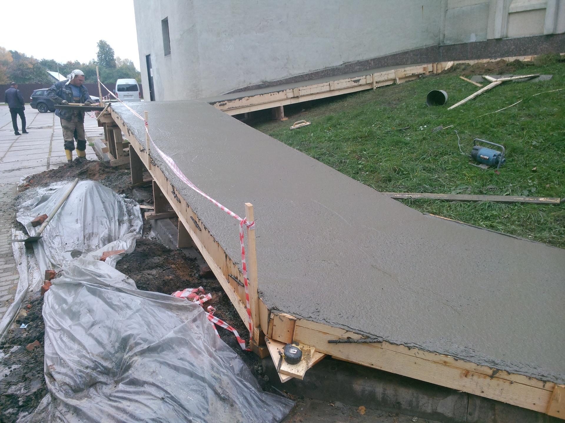 эстакада из бетонной смеси